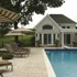 Poolhouse and Travertine Patio